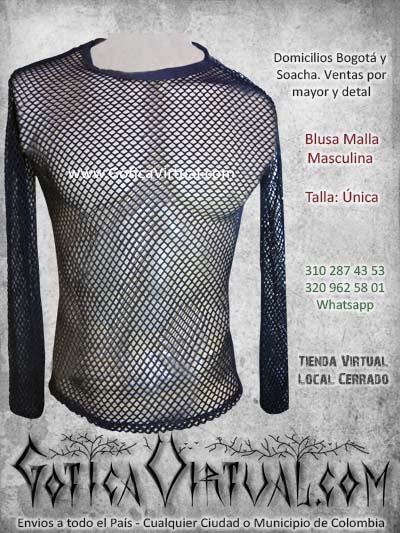 camiseta malla hombre negra economic venta online domicilios blusa bogota tienda online domicilios colombia