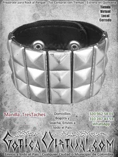 manillas taches cuadrados bogota metal rockera ventas online envios a todo el pais cali medellin cauca tulua popayan cordoba tunja villavicencio colombia