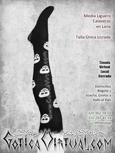medias calavera lana negras bonitas economicas venta onlien rock metal bogota cali armenia colombia