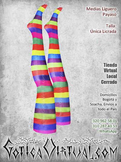 medias payaso liguero disfraz bogota colores hermosas bonita economicas ventas online envios a todo el pais medellin monteria cali cucuta cauca villavicencio colombia