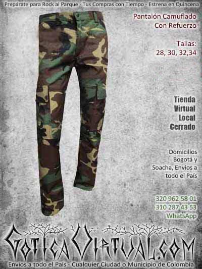 pantalon camuflado refuerzo hombre masculino ropa bogota ventas online envios a todo el pais cauca medellin arauca cordoba neiva monteria colombia
