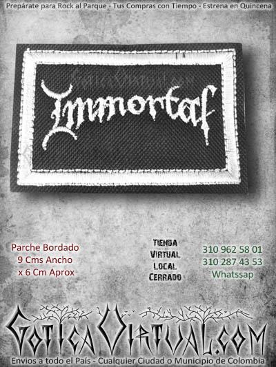 parche inmortal metal accesorios bordado ventas online domicilios bogota y soacha envios colombia