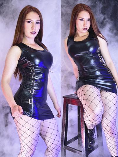 vestido sintetico brillante pentagrama black rock metal gotico estilo diseno bogota online banderas bosa tunjuelito galan colombia