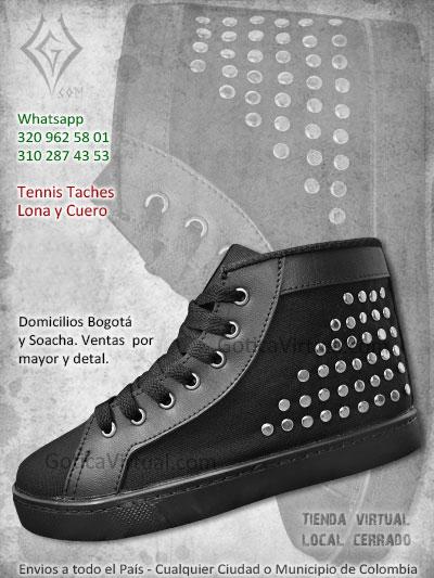 tennis zapatos negros lona cuero estilo medellin cali manizales pereira yopal tunja pasto domicilios