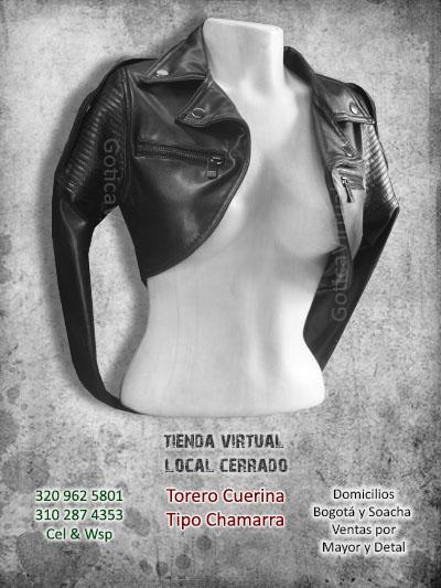torero cuerina tipo chamarra negro bonito economico tienda online bogota cucuta chia quindio funza cali colombia