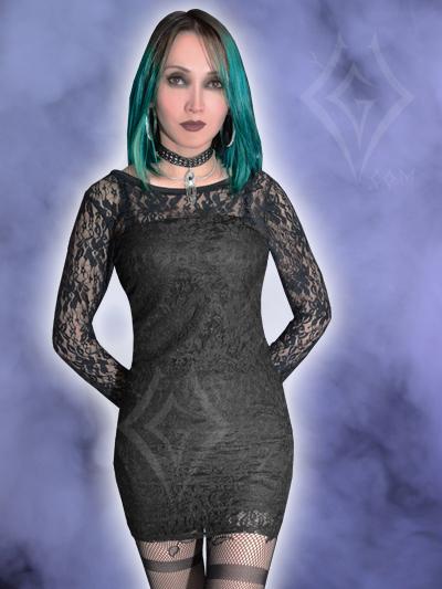 Vestido Gotico Blonda licrado negro  bogota soacha manizales pereira barranquilla medellin medallo tienda gotica cartagena