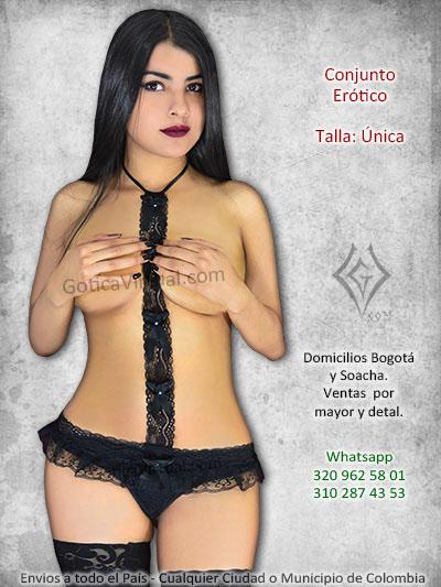 vestido enterizo tanga tira blonda monos negro encaje escotada descubierto erotico venta online bogota caldas bolivar bucaramanga colombia