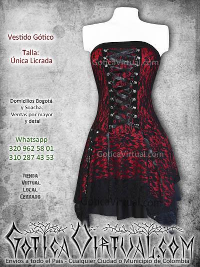 vestido gotico cintas bogota rojo blonda gothic dark clan metaleros rock colombia restrepo soacha venecia chia chapinero ipiales panama sur norte