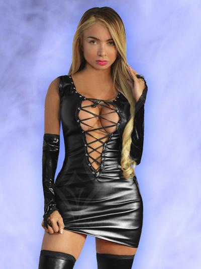 vestido negro sintetico cuero cuerina bogota mujer femenino hermoso corto abierto espalda ventas online envios a todo el pais cali medellin cauca cucuta villavicencio manizales colombia