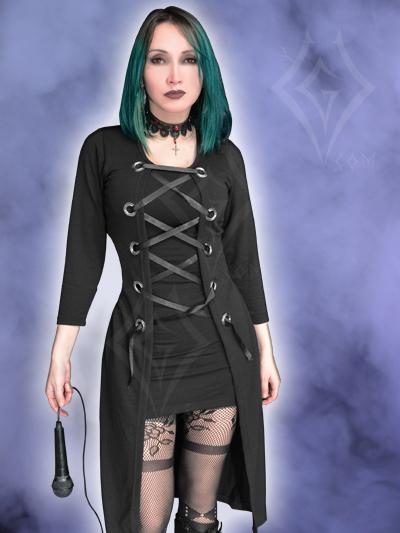 Vestido negro ojales bogota soacha manizales pereira barranquilla medellin medallo tienda gotica cartagena