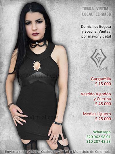 864936dc9d4f vestido algodon cuerina negro venta online chicas rock metal black bogota  manizales sincleejo villeta bucaramanga valle