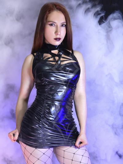 vestido sintetico bluson negro pvc sintetico cuerina ventas online envios a todo el pais cali medellin cauca villavicencio monteria sucre yopal cordoba neiva sincelejo colombia