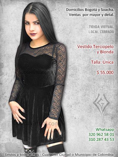afcb83470 vestido terciopleo blonda gotico chica bonito venta online domicilios bogota  chapinero americas cuidad bolivar suba soacha