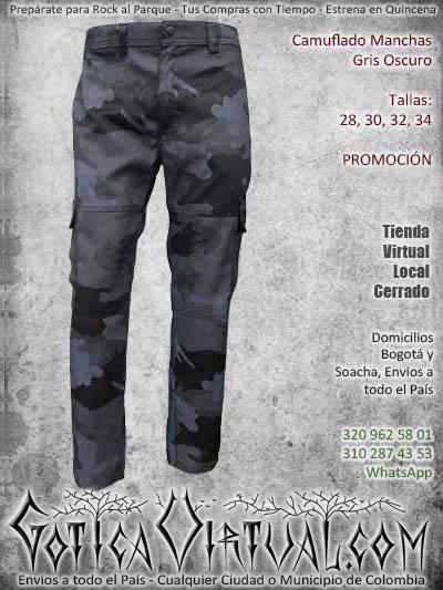 Camuflados Bogota Y Soacha Manchados Pixalados Unicolor Negros Gris Urbanos Verdes Pantalones Militares Rockeros Envios Medellin Cali Manizales Pereira Pasto Bucaramanga Cucuta Yopal Tunja